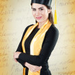 Young beautiful student graduation portrait — Stock Photo