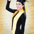 Portrait of young woman on graduation day — Stock Photo #47740827