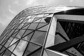 The Gherkin in the City of London, otherwise known as 30 St Mary Axe — Stock Photo