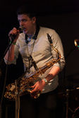 Louth,Ireland,May 4th 2014,Booka Brass Band perform live at Vantastival,Bellurgan Park,County Louth on May 4th 2014 in Louth,Ireland — Stock Photo