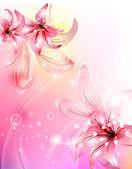 ビンテージ ベクトル ダマスク花 brocade タペストリー壁紙れたら — ストックベクタ