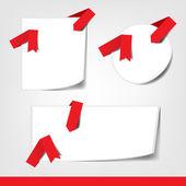 Zestaw wektor kolorowe pudełka z łuki i wstążki. — Wektor stockowy