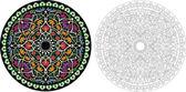 Vintage Vector Damask Floral Brocade Tapestry Wallpaper Backgrou — Stock Vector