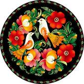 Damaris vintage vector floral brokat tapestry tapete tergru — Stockvektor