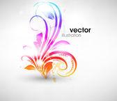 Damasco vintage vector brocado floral tapiz pintado backgrou — Vector de stock
