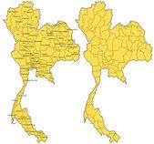 泰国地图矢量 — 图库矢量图片