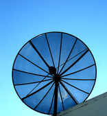 House satellite antenna — Stock Photo