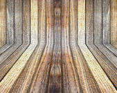 Wood pattern in perspective view and background — Stock Photo