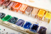 Professional aquarelle paintbox — Stock Photo