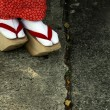 Stock Photo: Wooden Shoes of Japanese Geisha