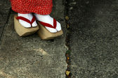 Wooden Shoes of Japanese Geisha — Stock Photo