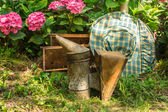 Beehive and beekeeping equipment — Foto de Stock