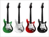 Realistic  Guitars — Stock Vector