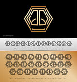Monogram Design with letter Q — Stock Vector