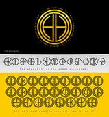 H harfi ile dizayn monogram — Stok Vektör