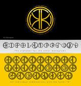 Monogram Design with letter K — Stock Vector