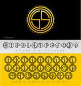 Monogram Design with letter S — Stock Vector