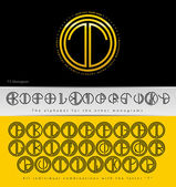 Monogram Design with letter T — Stock Vector