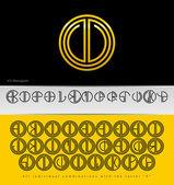 Monogram Design with letter V — Stock Vector