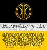 Monogram Design with letter X — Stock Vector