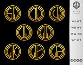 Monogram Design with letter W set — Stock Vector