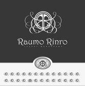 "Swirl Ornament Design with letter "" R "" — Stock Vector"