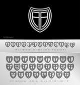 デザイン文字のモノグラムは — ストックベクタ