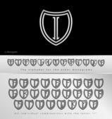 Monogram Design with letter I — Stock Vector