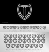Monogram Design with letter L — Stock Vector