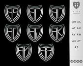 Konstrukcja monogram litery zestaw — Wektor stockowy