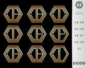 Monogram Design with letter C set — Stock Vector