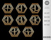 Monogram Design with letter E set — Stock Vector