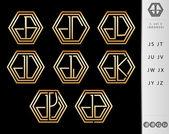 Monogram Design with letter J set — Stock Vector