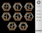 Monogram Design with letter S set — Stock Vector