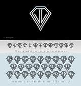 Monogram Design with letter L ( Diamond ) — Stock Vector