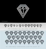 Monogram Design with letter Z ( Diamond ) — Stock Vector