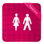 Male and Female  Icon — Stock Vector
