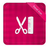 Hairdresser ( Travel Icon ) — Stock Vector