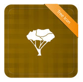 Tree Icon — Vettoriale Stock