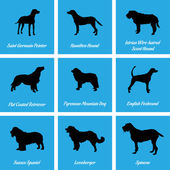 Dogs Icons — Vector de stock