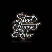 Steel horse rider — Stockvektor