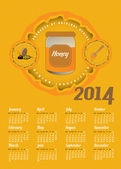 Honey Calendar — Stock Vector