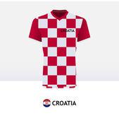 Croatia Football Jersey — Stock Vector
