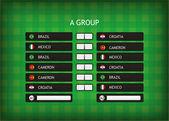 Turniej mistrzostw piłki nożnej 2014 — Wektor stockowy