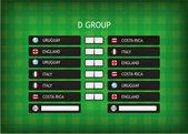 Torneo di campionato di calcio 2014 — Vettoriale Stock