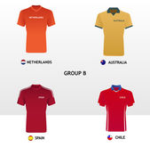 Football Jerseys Group B — Vector de stock