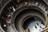 VATICAN - MAY 30, 2014: Spiral staircase in the Vatican Museums  — Stock Photo
