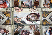VATICAN - MAY 30, 2014: the Sistine Chapel ceiling, painted by M — Stock Photo