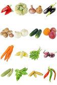Färska grönsaker isolera — Stockfoto
