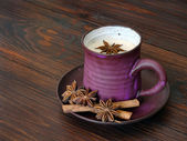 Herbal chai tea with milk — Foto Stock